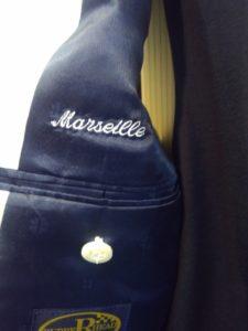 マルセイユ津田氏のステージ衣装用スーツが完成しました